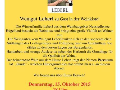 Oktober '15 – Weinverkostung Leberl