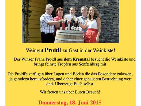 Juni '15 Weinverkostung Weingut Proidl