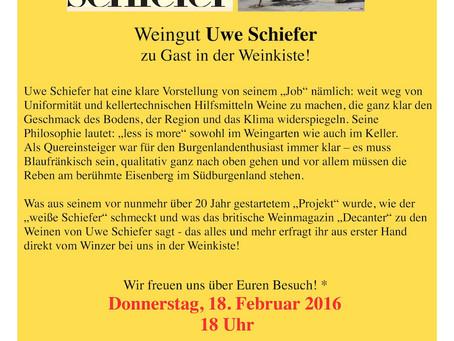 Februar '16 – Weinverkostung Uwe Schiefer