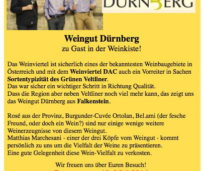 Mai '16 Weinverkostung Dürnberg