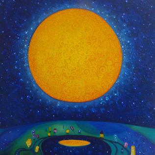 Moon Hole, Oil on canvas, 2.2019, 50X50cm