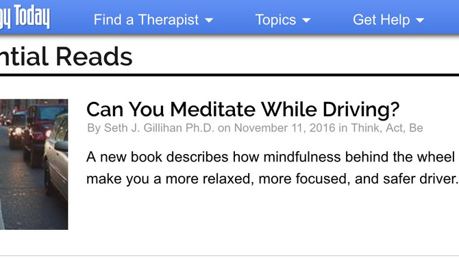Psychology Today Features Solan McClean Mindfulness Book