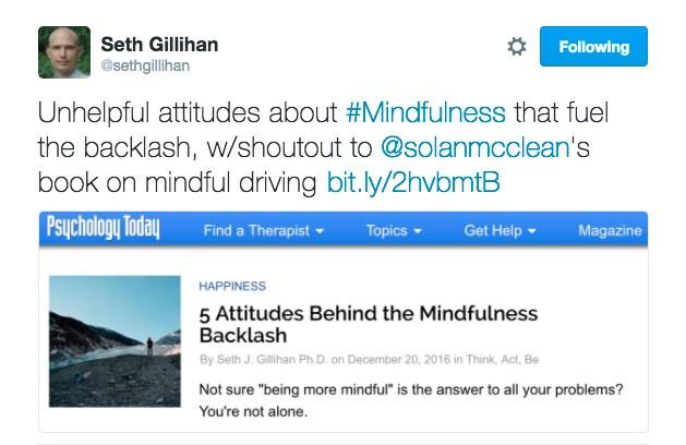 Mindfulness Post~Psychology Today