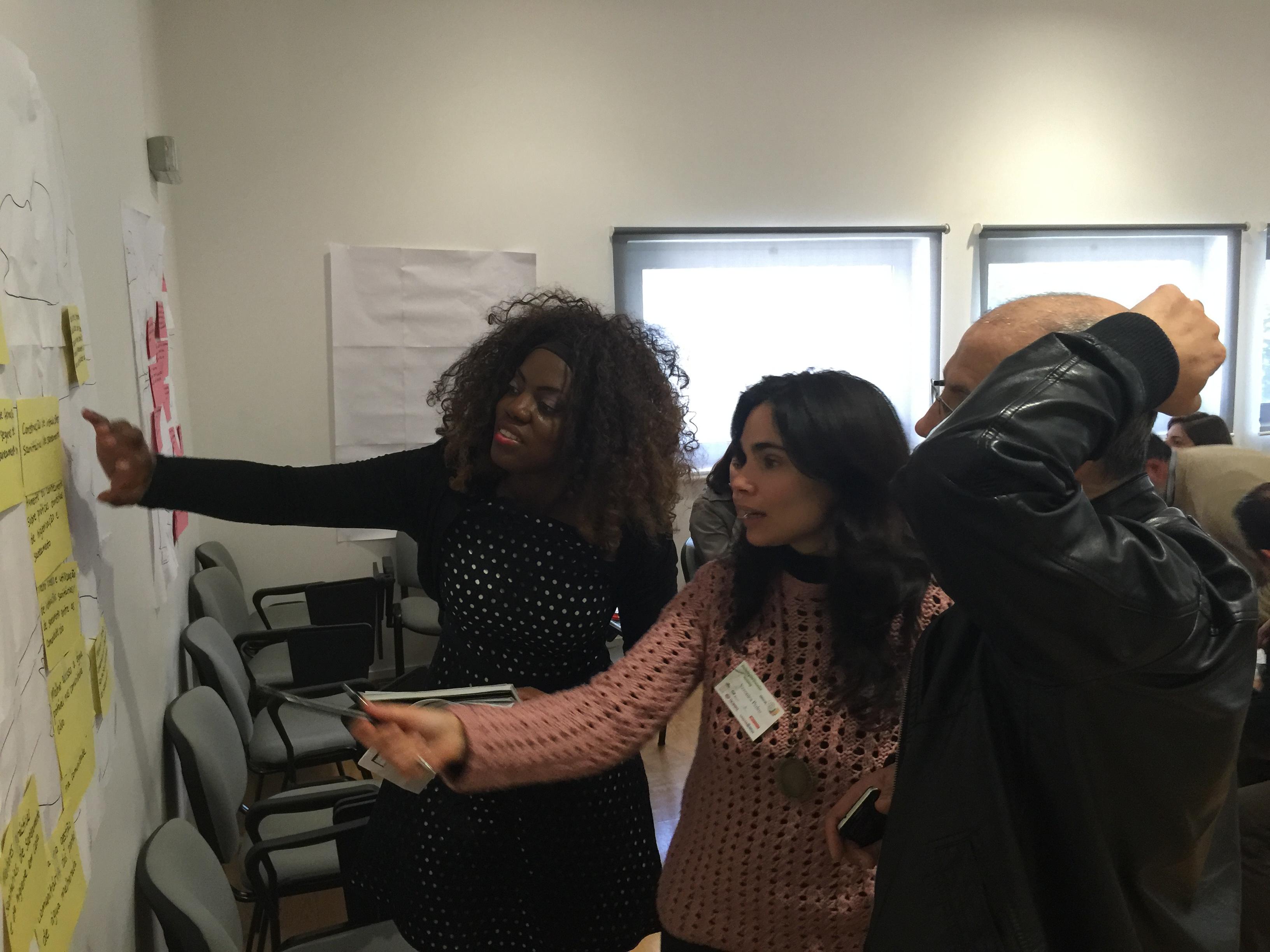 Ann Facilitating a M&E Workshop
