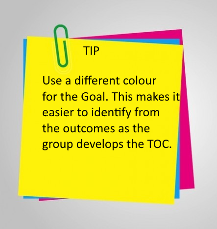 Tip: Use a different colour for the Goal