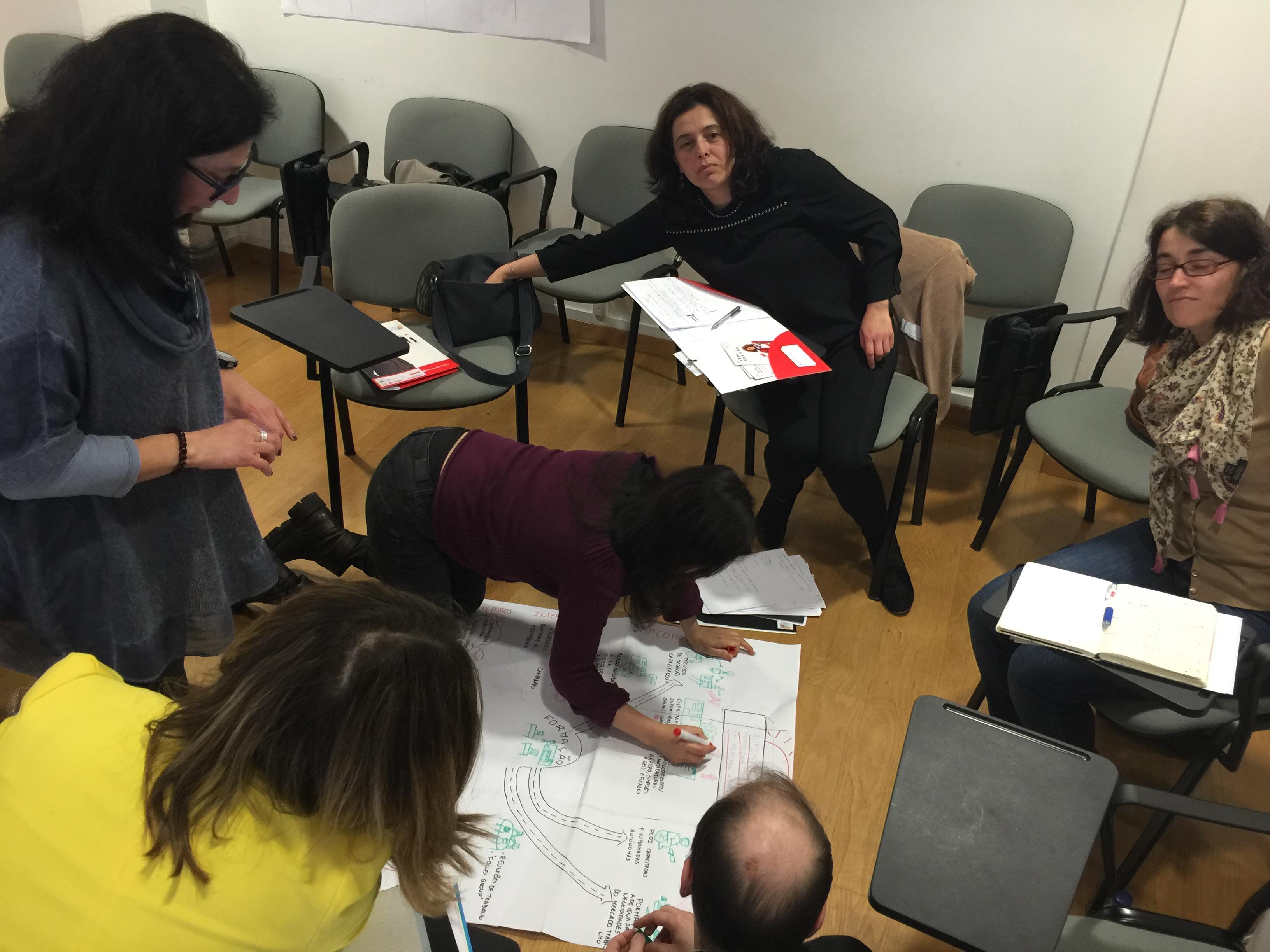 M&E Workshop facilitated by Ann