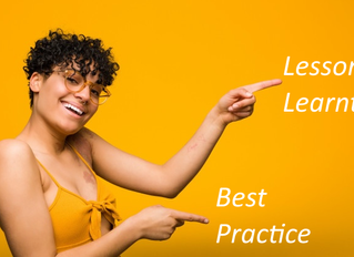 Differences between Lessons Learnt and Best Practices