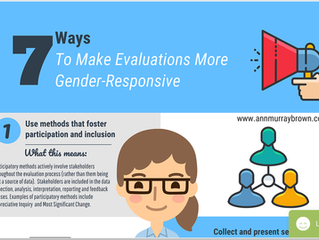 How To Make Evaluations More  Gender-Responsive