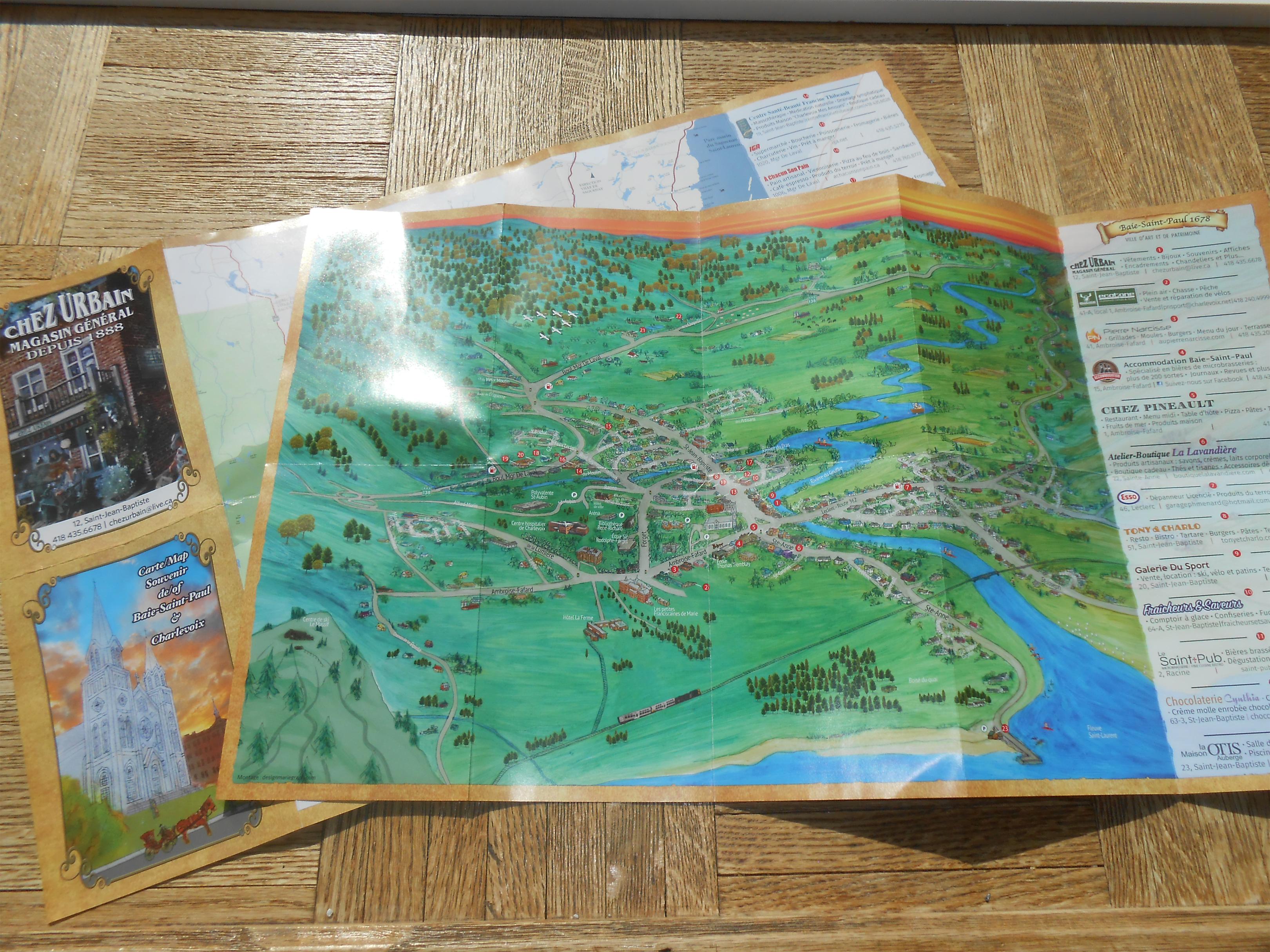 Carte touristique Baie-St-Paul