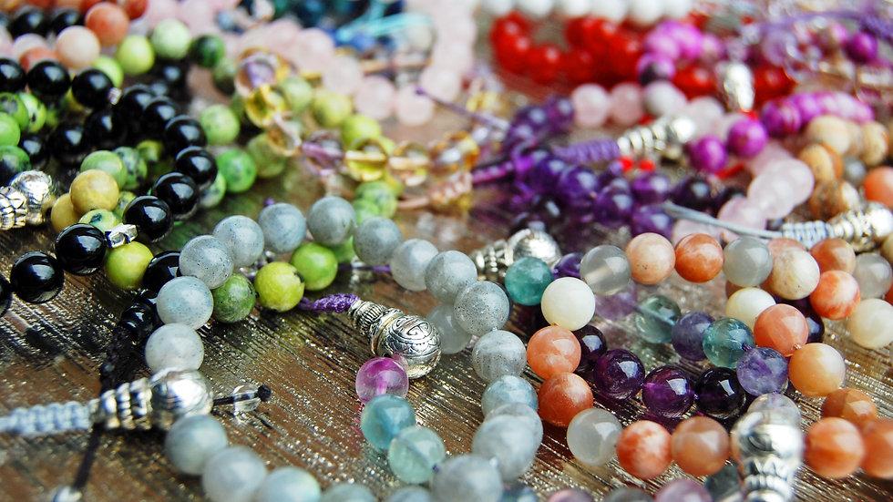 Bespoke Crystal Healing Mala Bracelet