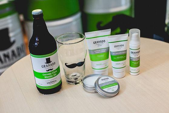 kit de barbeara granado co cerveja trópica especial da farmácia
