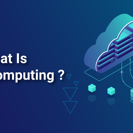 Time to know what cloud computing is