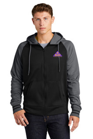 Mens cut zip up athletic jacket