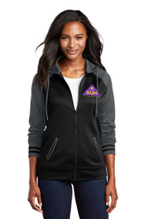 Womens cut zip up athletic jacket