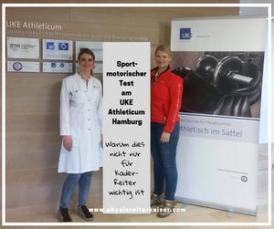 Physioreiter Kaiser besuchte Frau Dr. med. Julia Schmidt im UKE Athleticum Hamburg und schaute sich das Konzept der Spezialsprechstunde für Pferdesportler an