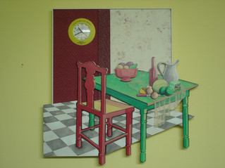 Table Set with Clock