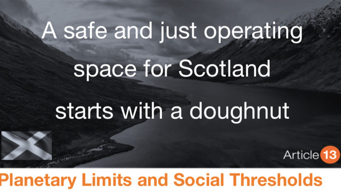 PLANETARY LIMITS AND SOCIAL THRESHOLDS: A SAFE AND JUST OPERATING SPACE FOR SCOTLAND