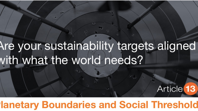 NEW RESEARCH: How many sustainability targets are actually aligned to meet the limits and thresholds