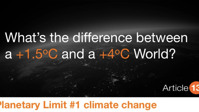 What's the difference between a +1.5°C and a +4°C World?