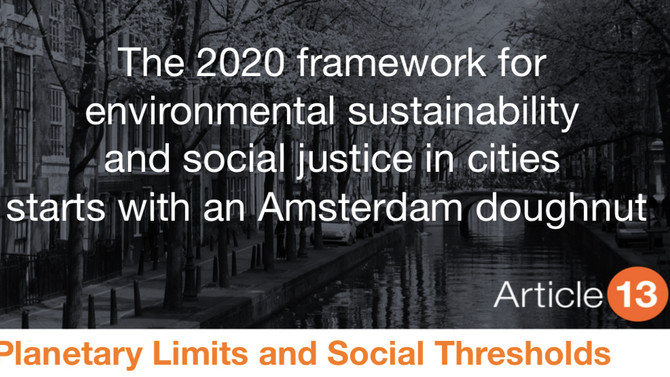 THE 2020 FRAMEWORK FOR ENVIRONMENTAL SUSTAINABILITY AND SOCIAL JUSTICE IN CITIES STARTS WITH AN AMST