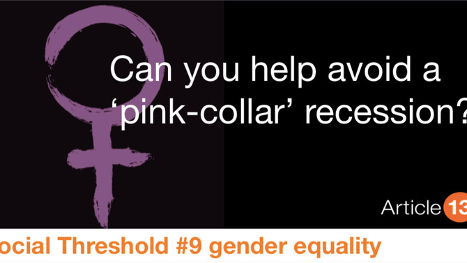 SOCIAL THRESHOLD #9 GENDER INEQUALITY: CAN YOU HELP AVOID A 'PINK-COLLAR' RECESSION?