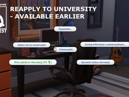 Reapply To University Earlier