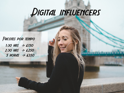 Ensaio fotografico para digital influencers