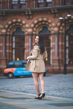 Ensaio de moda em Londres