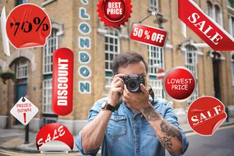 Compra de equipamentos de fotografia em Londres
