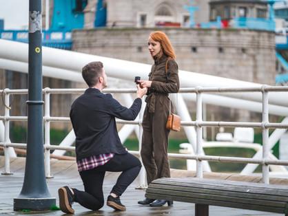 Proposta de casamento surpresa em Londres