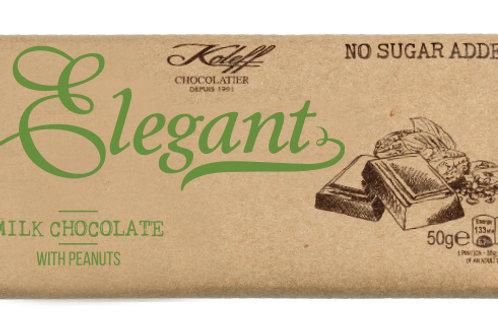 Elegant Млечен шоколад с фъстъци без добавена захар 50г