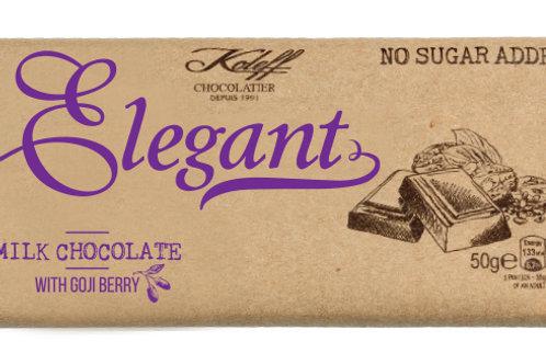 Elegant  Млечен шоколад с годжи бери без добавена захар  50 г