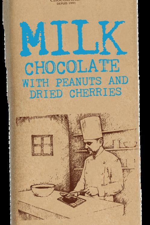 Koleff  Фин Mлечен Шоколад с Фъстъци и Сушени Череши 90g