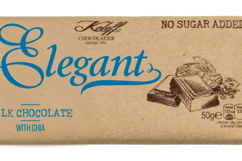 Elegant Млечен шоколад с чия без добавена захар  50 г
