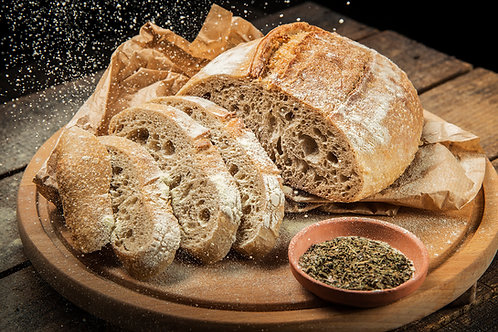 Домашен  пшенично ръжен хляб с жива закваска 450 г