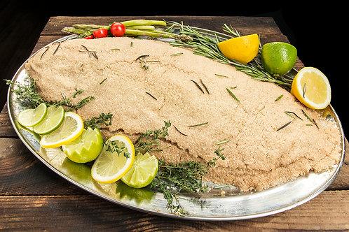 Диво уловена  ципура 1+ печена в сол (цяла риба)