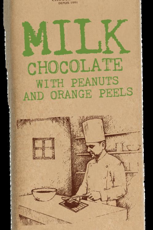 Koleff Фин Mлечен Шоколад с Фъстъци и Портокалови Корички 90g