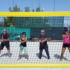 beach tennis (who knew?)
