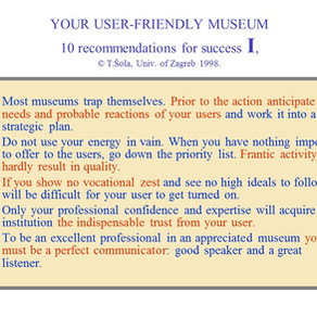 Your User Friendly Museum, No.1