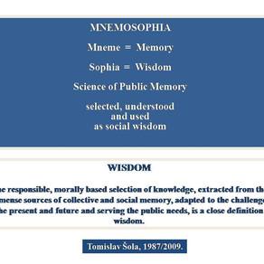 Mnemosophy, - Memory as Wisdom