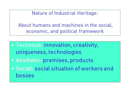 Ways of presentation in industrial archaeology