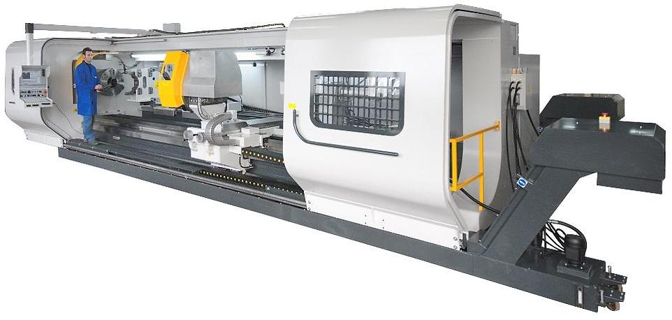 Тяжелые токарные станки с УЧПУ высотой центров от 500 до 700 мм и расстоянием между ними от 2 до 10 м серии TITANO CNC