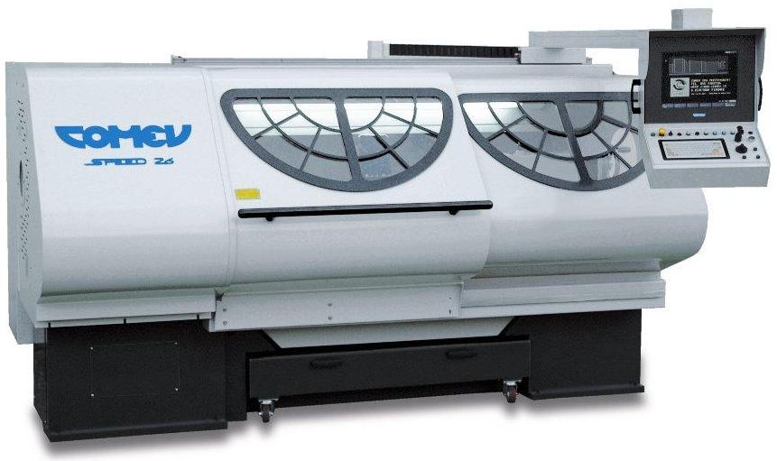 Токарный высокоскоростной станок с цикловым управлением  серии SPEEDой центров от 500 до 700 мм и расстоянием между ними от 2 до 10 м серии TITANO T