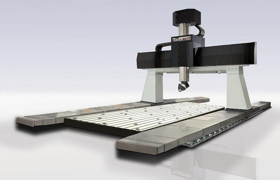 Фрезерный станок с ЧПУ или обрабатывающий центр с подвижным порталом и неподвижными поперечиной и столом  THERA