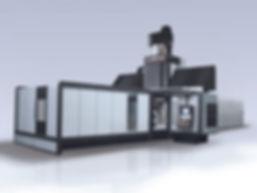 Фрезерный станок с ЧПУ или портальный обрабатывающий центр с неподвижной поперечиной и подвижным столом