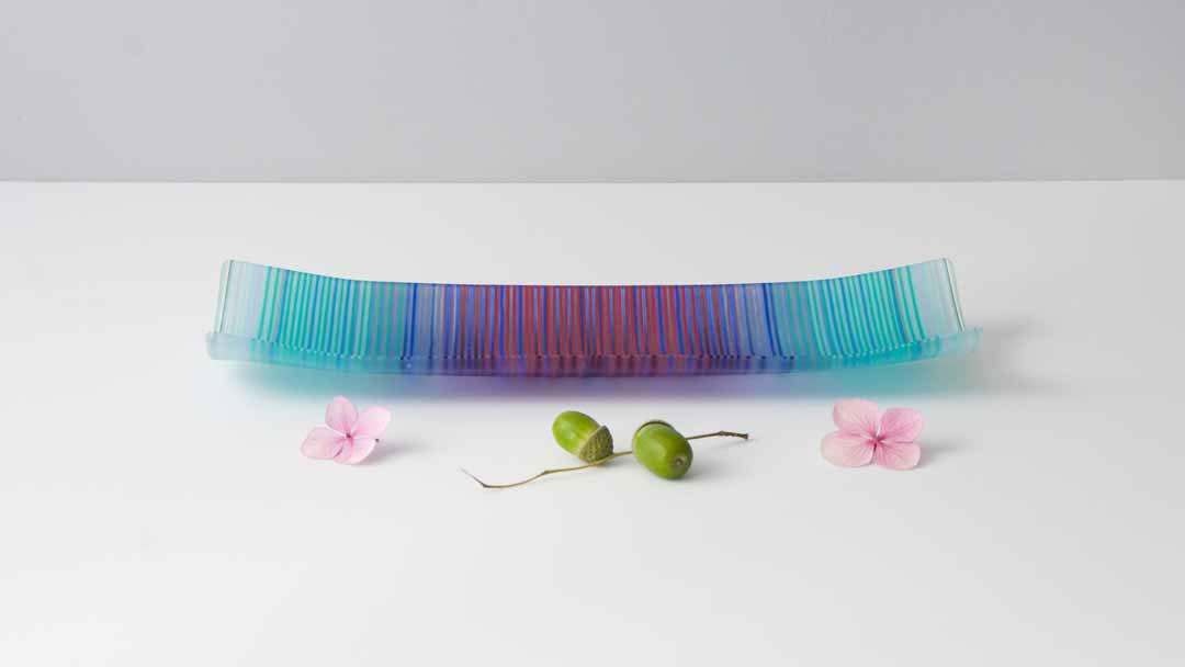 ColourWave Glass – Turquoise Gradation –