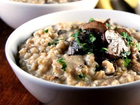 Mushroom and Pot Barley Risotto