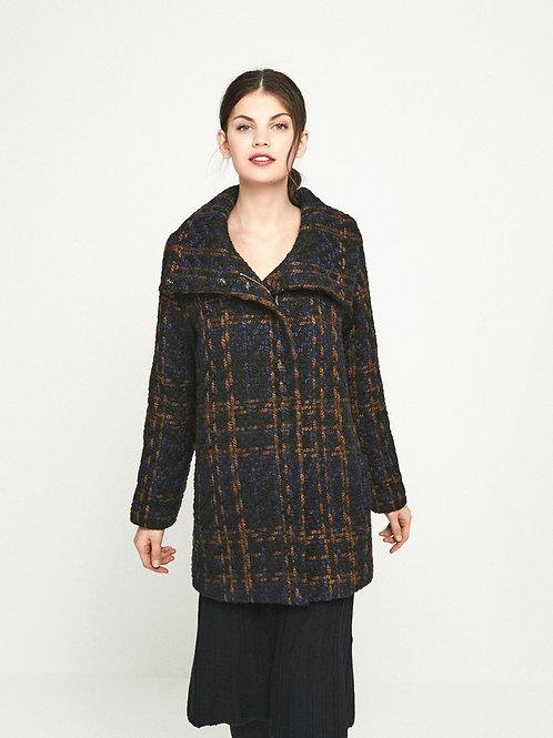 Abrigo Cheviot lana nudo