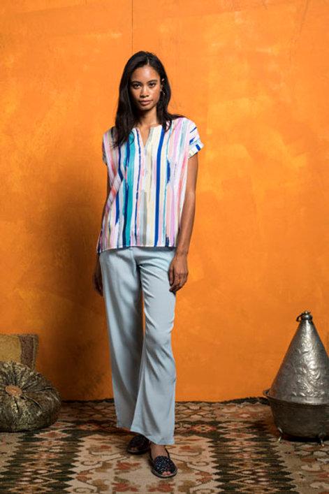 Blusa oversize multicolor