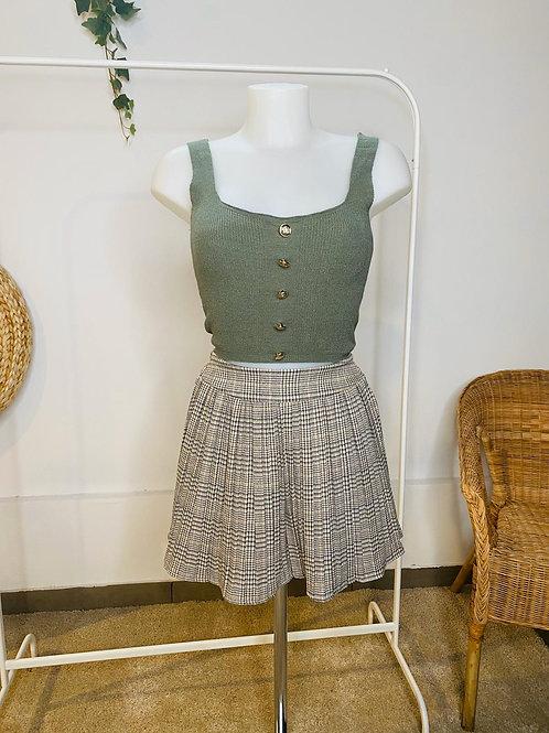 Falda/pantalón cuadros plisada
